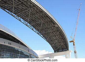 Sport dome under construction