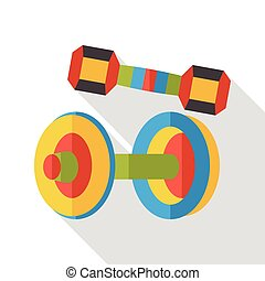 sport Dumbbell flat icon