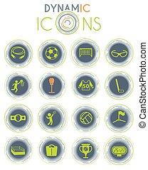 sport dynamic icons