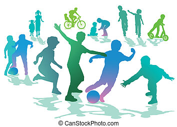 sport, enfants, loisir