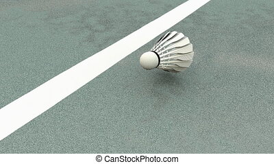 """Computer generated, Sport equipment, badminton shuttlecock."""