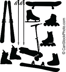 sport equipment - Sport and recreation equipment - vector