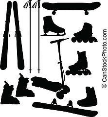 sport equipment - Sport and recreation equipment - vector
