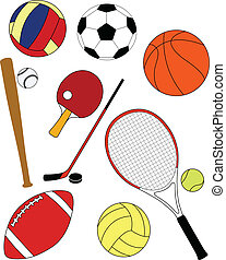 Sport equipment - vector illustration