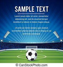 sport, espace, résumé, copie, fond, football
