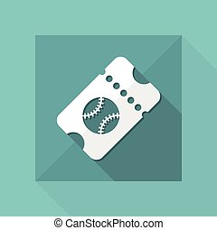 Sport event ticket - Vector web icon