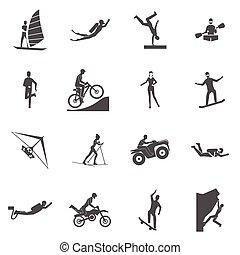 sport, extrém, ikonok