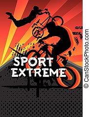 sport extreme bicycle jumping