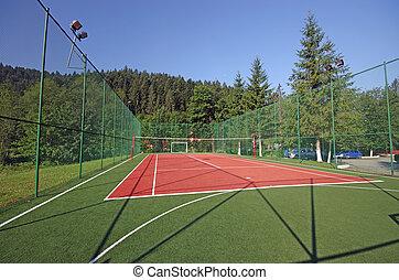 Sport field - Artificial sport field in nature, near a...