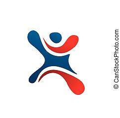 sport figure letter X logo