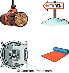 sport, finance and other web icon in cartoon style.fitness,...
