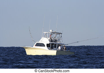 Sport Fish Boat - Sport Fishing Boat in the Gulf Stream