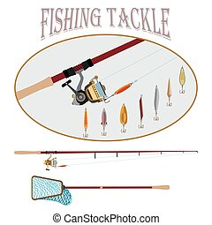 Sport fishing at all times - Spinning with reel and a set of...