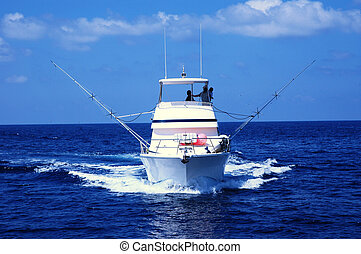 Sport Fishing Boat ready for game fishing