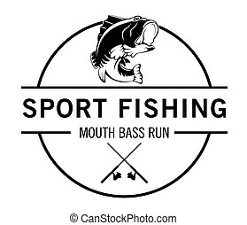Sport fishing : Fisher label badge