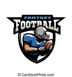 sport, football américain, logo.