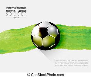 sport, football, illustration, créatif, vecteur, football
