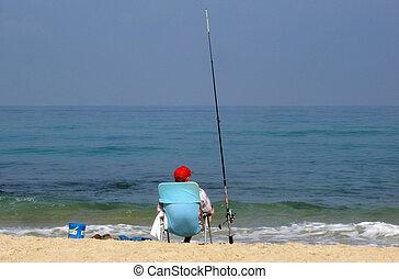sport, foto, -, pesca
