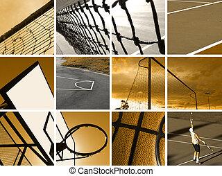 sport, fotomontaggio