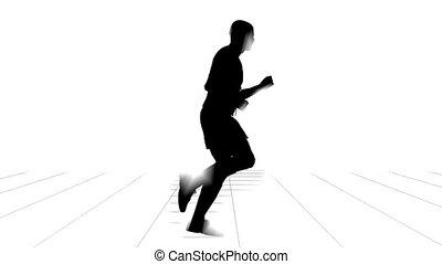 sport, futás, ember