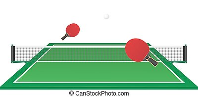 sport game table tennis ping pong vector illustration