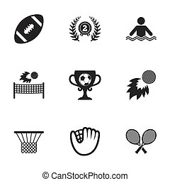 Sport games, fitness icon. Football, golf.