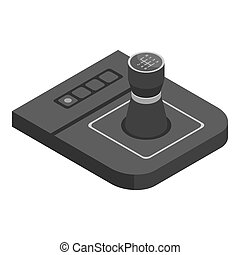 Sport gearbox icon, isometric style