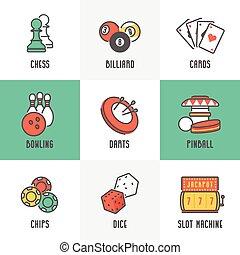 sport, giochi, ozio, icone