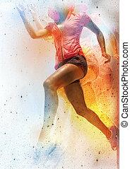 sport girl - sports jogging
