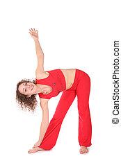 sport girl stretching