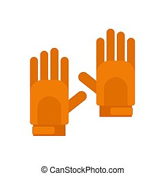 Sport gloves icon, flat style