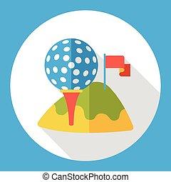 sport golf flat icon