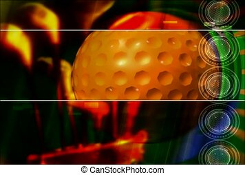 sport, golf, golfball