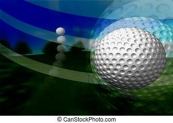 sport, golfball, uderzyć