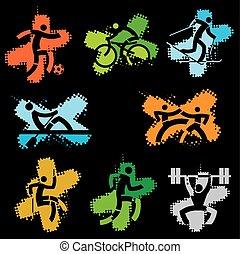 sport, grunge, icone