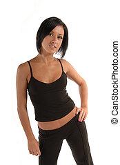 sport, ha på sig, kvinnlig