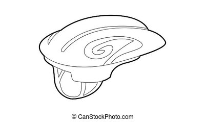 Sport helmet icon animation best outline object on white background