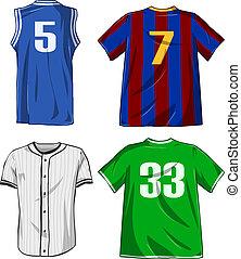 sport, hemden, satz