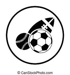sport, herék, ikon