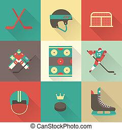sport, hockey, icônes