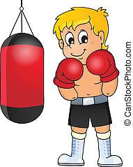 sport, i, sala gimnastyczna, temat, wizerunek, 5