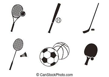 Sport Icon Black White Design Flat
