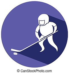 Sport icon design for ice hockey