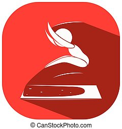 Sport icon design for long jump