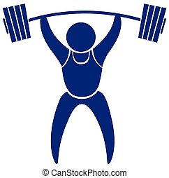 Sport icon design for weightlifting illustration