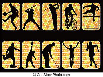 sport icon silhouette