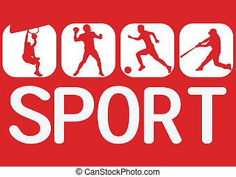 sport icon - sport soccer baseball football basketball icon...