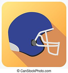 Sport icon with american football in flat style. Vector illustration.