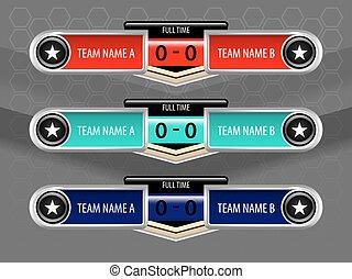sport icons scoreboard