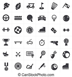Sport Icons Set Design.